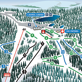 Laurel Mountain Ski Resort Trail Map
